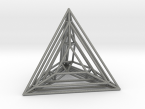 Tetrahedron Experiment in Gray PA12