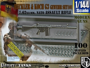 1/144 HK G-3 Rifle Set101 in Smoothest Fine Detail Plastic