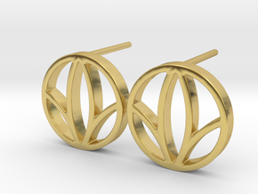 Herbalife Nutrition Earring_V_2.1 in Polished Brass