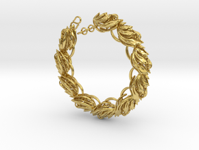 Somaextatic Bead Bracelet in Polished Brass (Interlocking Parts)