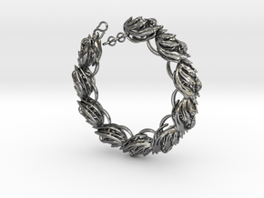 Somaextatic Bead Bracelet in Polished Silver (Interlocking Parts)