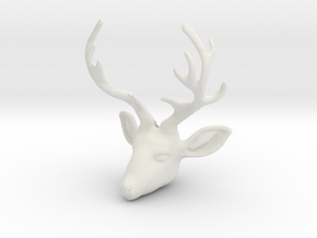 Deer V2-B in White Natural Versatile Plastic