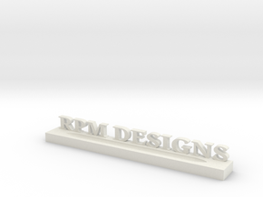 Pen Holder with Text Customization in White Natural Versatile Plastic