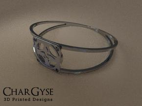 Elegant Bangle - Four Petal Flow in Smooth Fine Detail Plastic