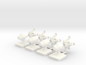 Lunar Game Pieces order, 15mm base in White Processed Versatile Plastic