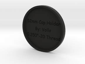 52mm Lens Cap Holder in Black Natural Versatile Plastic