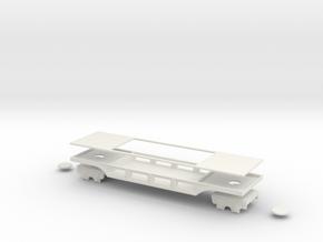 pechot platform wagon narrow gauge oo9  in White Natural Versatile Plastic