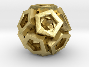 Pentagonal Crystals in Natural Brass