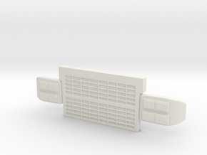 1/25 Spartan grill with headlights in White Natural Versatile Plastic