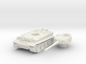 Tiger I (mid) scale 1/87 in White Natural Versatile Plastic