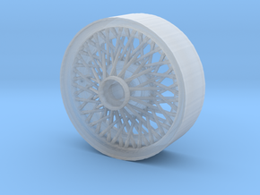 British style wire wheel in Smoothest Fine Detail Plastic