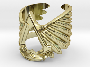 AC ring - full sizes (14 to 22) in 18k Gold Plated Brass: 3 / 44
