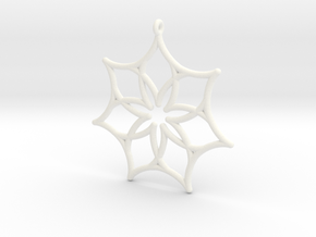 Seven Astroids in White Processed Versatile Plastic