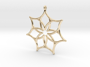 Seven Astroids in 14k Gold Plated Brass