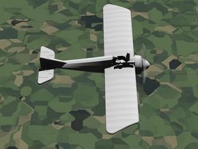 Morane-Saulnier Type V in White Natural Versatile Plastic: 1:144