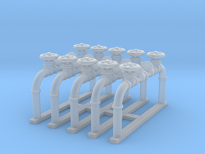 Pipes 1 - 1:35scale in Smooth Fine Detail Plastic