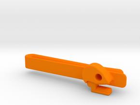 Mictlan tie clip in Orange Processed Versatile Plastic