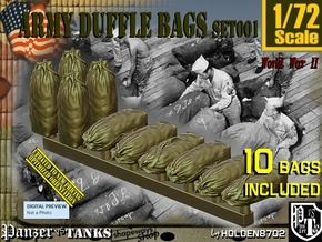 1/72 Army Duffle Bags Set001 in Smooth Fine Detail Plastic