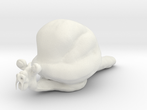 Snail in White Natural Versatile Plastic