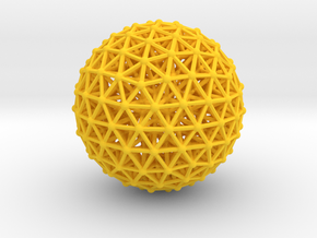Geodesic • Two-layer Sphere in Yellow Processed Versatile Plastic