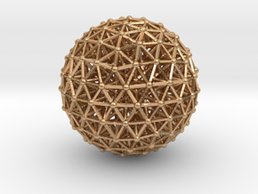 Geodesic • Two-layer Sphere in Natural Bronze