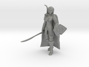 Elf Fighter in Gray Professional Plastic