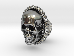 Skull cuff link - 25mm in Antique Silver