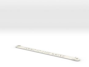 ID card holder for lanyard with text in White Natural Versatile Plastic