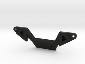 Rizoma reflector holder for 200 mm license plates in Black Natural Versatile Plastic
