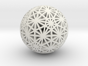 Geodesic Great Circles in White Premium Versatile Plastic
