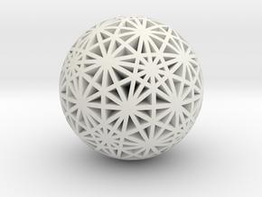 Geodesic Great Circles in White Premium Versatile Plastic