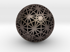 Geodesic Great Circles in Polished Bronzed-Silver Steel