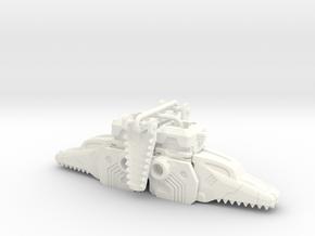 Terror Combiner's Dragon Head Knee Caps in White Processed Versatile Plastic