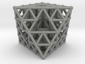 Octahedron fractal  in Gray Professional Plastic