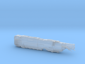 UNSC Trafalgar class supercarrier high detail in Smooth Fine Detail Plastic