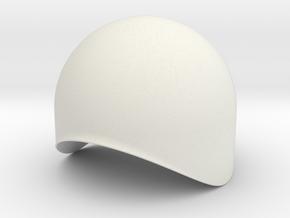 Dome 40mm in White Natural Versatile Plastic