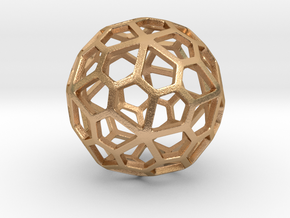 Pentagonal Hexecontahedron in Natural Bronze: Small