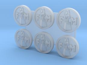 FM Medallion HO x6 in Smoothest Fine Detail Plastic