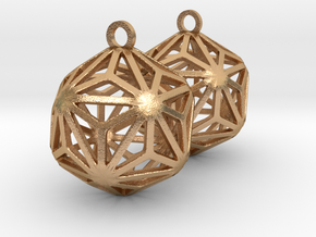 Triakis Icosahedron Earrings in Natural Bronze