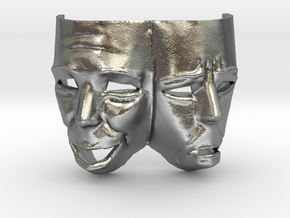 Theater Masks in Natural Silver