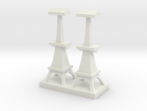 British Radar Tower in White Natural Versatile Plastic