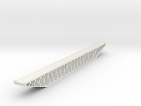Trestle N (1:160) Six Piles Bridge With Deck Rigid in White Natural Versatile Plastic