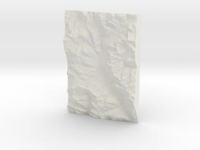 Val Poschiavo Topomap in White Natural Versatile Plastic