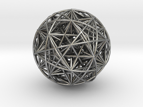 Hedron Star compound in Natural Silver