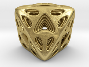 Nested Octahedron in Natural Brass