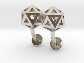 Icosahedron Cufflinks in Platinum