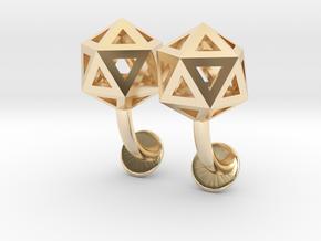 Icosahedron Cufflinks in 14K Yellow Gold