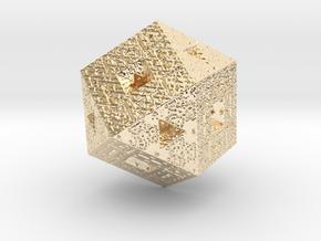 Sierpiński Fractal in 14K Yellow Gold