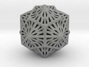 Icosahedron Dodecahedron Compound in Gray Professional Plastic