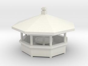 Schwenkgrill 8 Eck - 1:87 (H0 scale) in White Natural Versatile Plastic